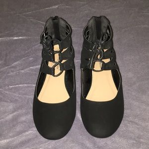 Top moda lace up flats